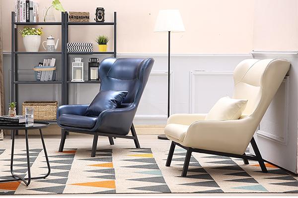OK-EU001 Hotel Single loune sofa Contemporary Style Wooden Sofa Lounge Chair Half Lying Couch