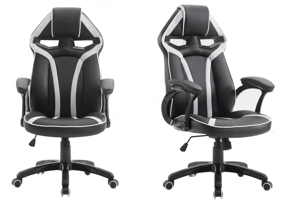 OK 2053W(white) Anji Swivel PU Leather Office Reclining PC Custom Dxracer  Racing Gaming Chair Chair Gaming