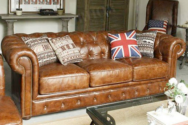 OK-OUZL1098 leather tufted European chesterfield popular sofa(strongly recommended)