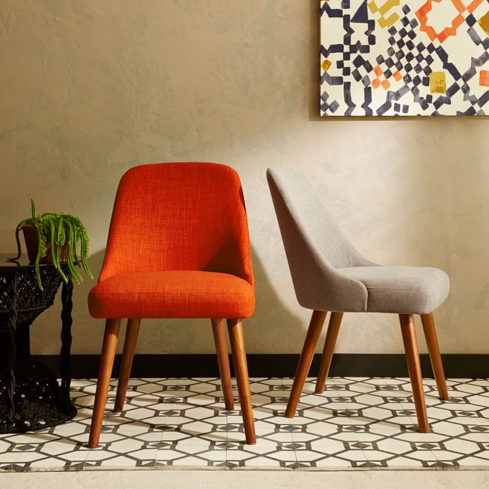 dining room chair leg protectors | OK-OUZL1015 Fabric Cushion Kitchen Chairs with Sturdy ...
