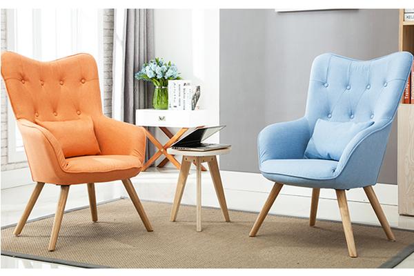 OK-OUZL1089 high back tufted European popular sofa with foot stool
