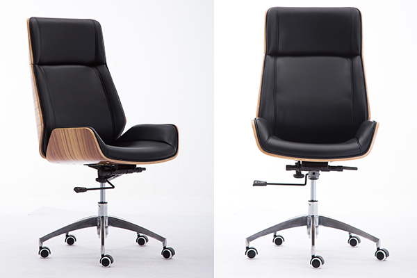 OK-2001B anji  factory walnut leahter luxury office chair