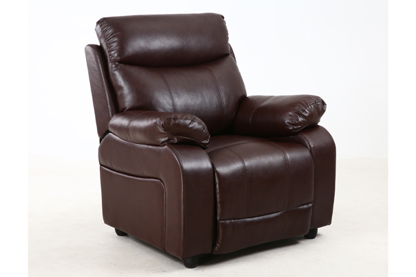 OK-RC8017 Leather finish luxury designed model push back recliner sofa